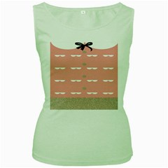Cool Rose Women s Green Tank Top by AnjaniArt