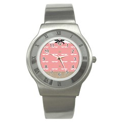 Cool Rose Stainless Steel Watch by AnjaniArt