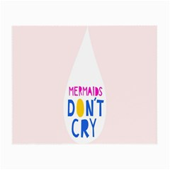 Dont Crt Fun Mermaids Pink Small Glasses Cloth (2 Side) by AnjaniArt