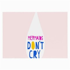 Dont Crt Fun Mermaids Pink Large Glasses Cloth by AnjaniArt