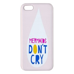Dont Crt Fun Mermaids Pink Iphone 5s/ Se Premium Hardshell Case by AnjaniArt