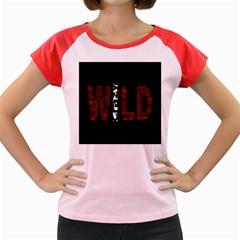Crazy Wild Style Background Font Words Women s Cap Sleeve T Shirt by AnjaniArt