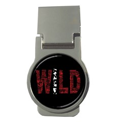 Crazy Wild Style Background Font Words Money Clips (round)