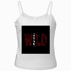 Crazy Wild Style Background Font Words Ladies Camisoles