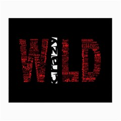 Crazy Wild Style Background Font Words Small Glasses Cloth (2 Side)