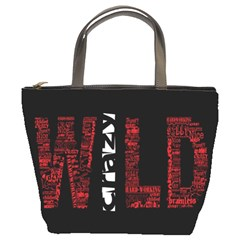 Crazy Wild Style Background Font Words Bucket Bags by AnjaniArt