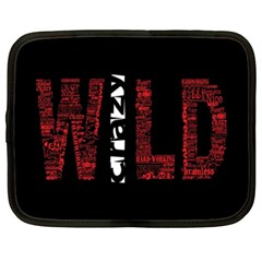 Crazy Wild Style Background Font Words Netbook Case (xxl)  by AnjaniArt