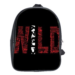 Crazy Wild Style Background Font Words School Bags(large)