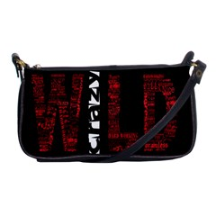 Crazy Wild Style Background Font Words Shoulder Clutch Bags by AnjaniArt