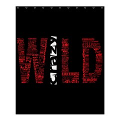 Crazy Wild Style Background Font Words Shower Curtain 60  X 72  (medium)  by AnjaniArt