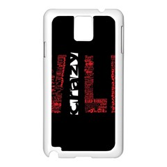 Crazy Wild Style Background Font Words Samsung Galaxy Note 3 N9005 Case (white)