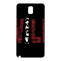 Crazy Wild Style Background Font Words Samsung Galaxy Note 3 N9005 Hardshell Back Case