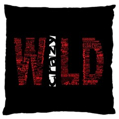 Crazy Wild Style Background Font Words Standard Flano Cushion Case (one Side) by AnjaniArt