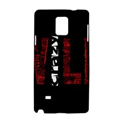 Crazy Wild Style Background Font Words Samsung Galaxy Note 4 Hardshell Case by AnjaniArt