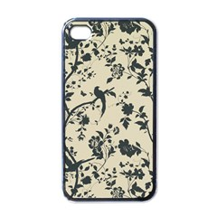 Cottonwood White Leaf Wallpaper Bird Apple Iphone 4 Case (black) by AnjaniArt