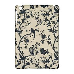 Cottonwood White Leaf Wallpaper Bird Apple Ipad Mini Hardshell Case (compatible With Smart Cover) by AnjaniArt