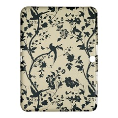 Cottonwood White Leaf Wallpaper Bird Samsung Galaxy Tab 4 (10 1 ) Hardshell Case  by AnjaniArt