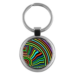 Colorful Cat Key Chains (round)