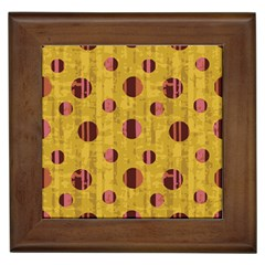 Dot Mustard Framed Tiles
