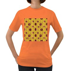 Dot Mustard Women s Dark T Shirt