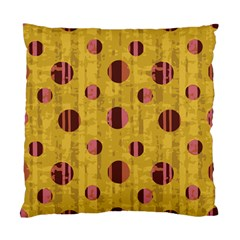 Dot Mustard Standard Cushion Case (two Sides) by AnjaniArt