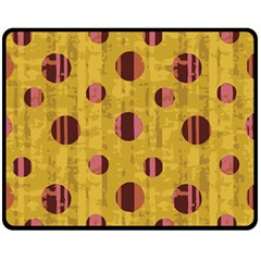 Dot Mustard Fleece Blanket (medium)