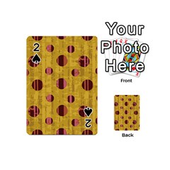 Dot Mustard Playing Cards 54 (mini)  by AnjaniArt