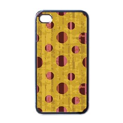 Dot Mustard Apple Iphone 4 Case (black) by AnjaniArt