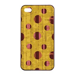 Dot Mustard Apple Iphone 4/4s Seamless Case (black) by AnjaniArt