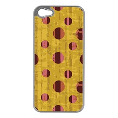 Dot Mustard Apple Iphone 5 Case (silver) by AnjaniArt