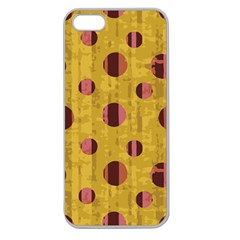 Dot Mustard Apple Seamless Iphone 5 Case (clear)