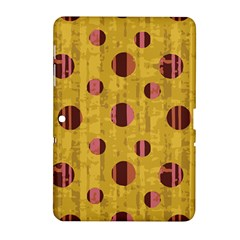 Dot Mustard Samsung Galaxy Tab 2 (10 1 ) P5100 Hardshell Case  by AnjaniArt