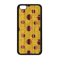 Dot Mustard Apple Iphone 5c Seamless Case (black) by AnjaniArt