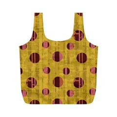 Dot Mustard Full Print Recycle Bags (m)  by AnjaniArt