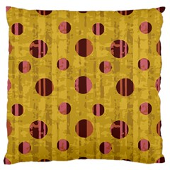 Dot Mustard Standard Flano Cushion Case (two Sides) by AnjaniArt