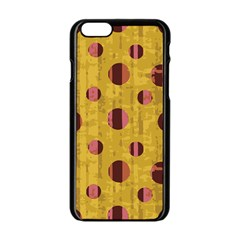 Dot Mustard Apple Iphone 6/6s Black Enamel Case by AnjaniArt
