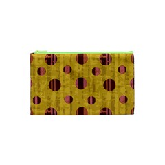 Dot Mustard Cosmetic Bag (xs) by AnjaniArt