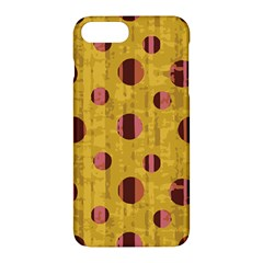 Dot Mustard Apple Iphone 7 Plus Hardshell Case by AnjaniArt