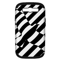 Flaying Bird Black White Samsung Galaxy S Iii Hardshell Case (pc+silicone) by AnjaniArt
