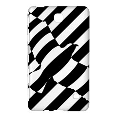 Flaying Bird Black White Samsung Galaxy Tab 4 (7 ) Hardshell Case  by AnjaniArt