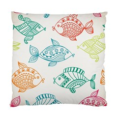 Fish Standard Cushion Case (two Sides) by AnjaniArt
