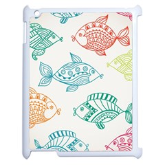 Fish Apple Ipad 2 Case (white)