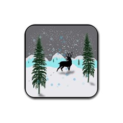 Rocky Mountain High Colorado Rubber Square Coaster (4 Pack)