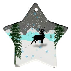 Rocky Mountain High Colorado Star Ornament (two Sides)