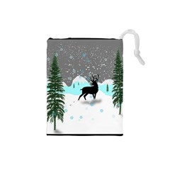 Rocky Mountain High Colorado Drawstring Pouches (small)  by Amaryn4rt