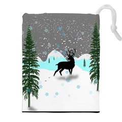 Rocky Mountain High Colorado Drawstring Pouches (xxl) by Amaryn4rt