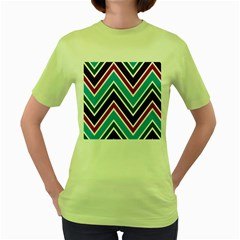 Fetching Chevron White Blue Purple Green Colors Combinations Cream Pink Pretty Peach Gray Glitter Re Women s Green T Shirt