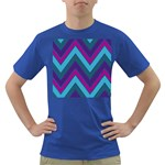Fetching Chevron White Blue Purple Green Colors Combinations Cream Pink Pretty Peach Gray Glitter Re Dark T-Shirt Front