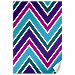 Fetching Chevron White Blue Purple Green Colors Combinations Cream Pink Pretty Peach Gray Glitter Re Canvas 24  X 36