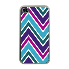 Fetching Chevron White Blue Purple Green Colors Combinations Cream Pink Pretty Peach Gray Glitter Re Apple Iphone 4 Case (clear)